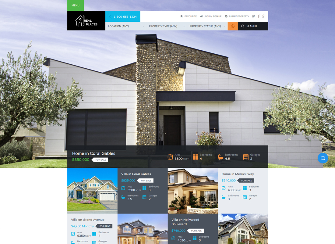 Real Places | Responsive Real Estate WordPress Theme