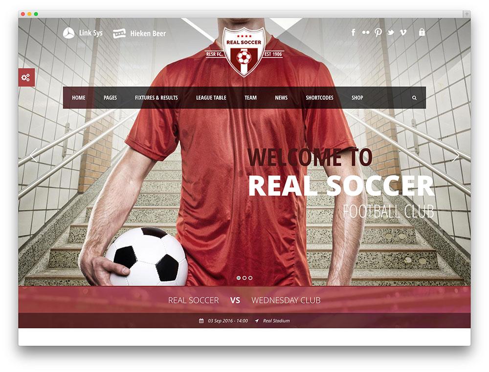 real soccer - football club theme