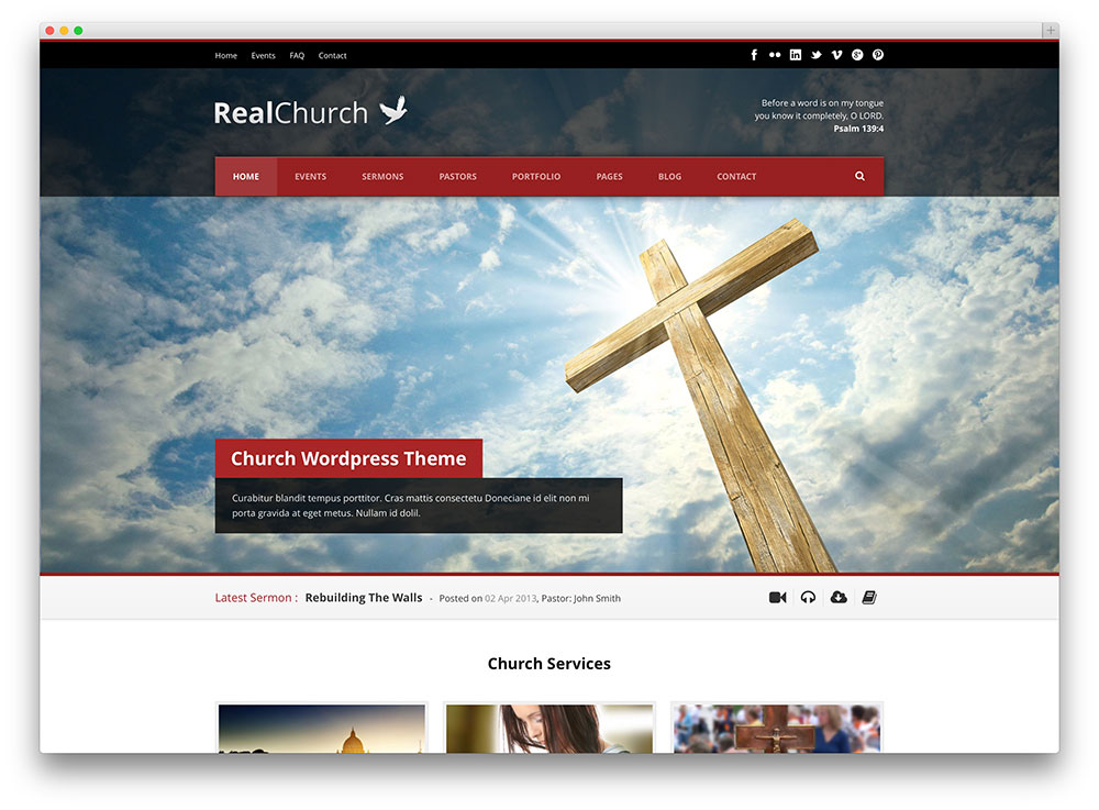 Church WordPress Themes for 2017