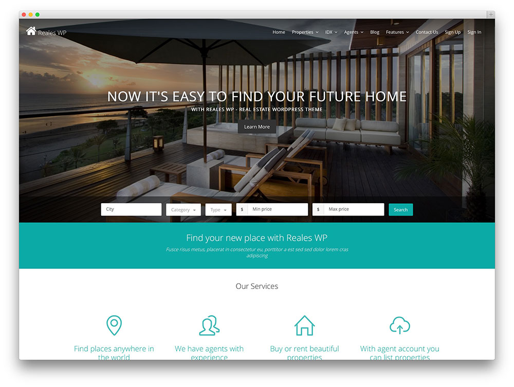 reales wp - creative real estate theme