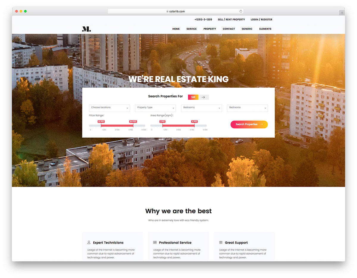 best free real estate website templates 2018 colorlib