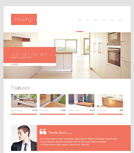Renting Agency WordPress Theme