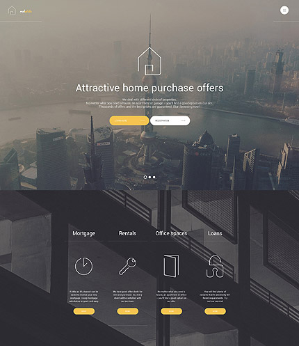 Real Estate Agent WordPress Theme
