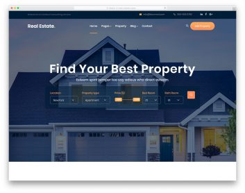 Best Free Real Estate Website Templates 2020 Colorlib