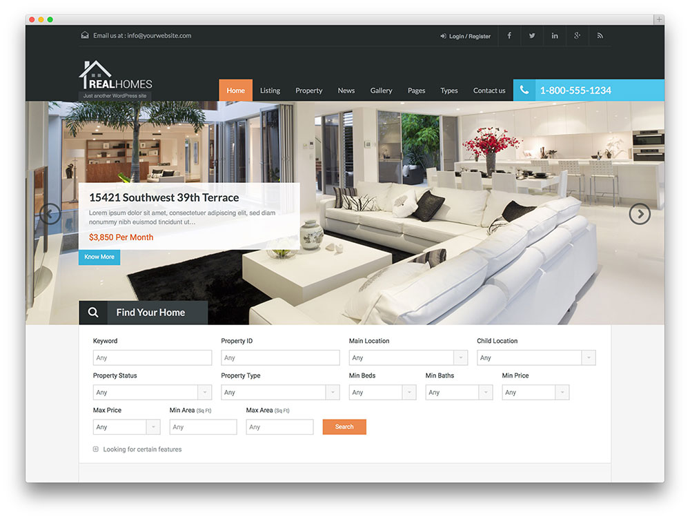 realhomes - most popular theme