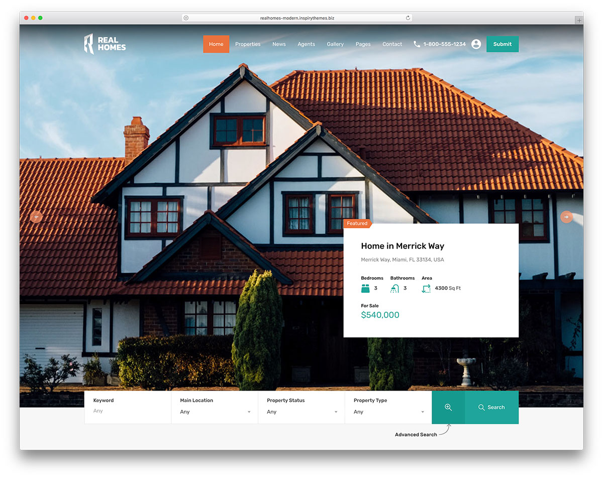 Real Homes Is A Gorgeous WordPress Theme For The Real Estate Industry. Its  Layout Is Clean And Streamlined, Offering A Superb Browsing Experience For  All ...