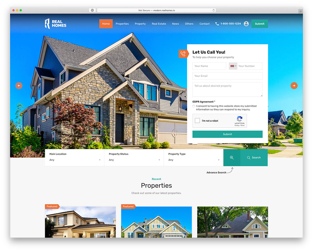 RealHomes - real estate listing WordPress theme