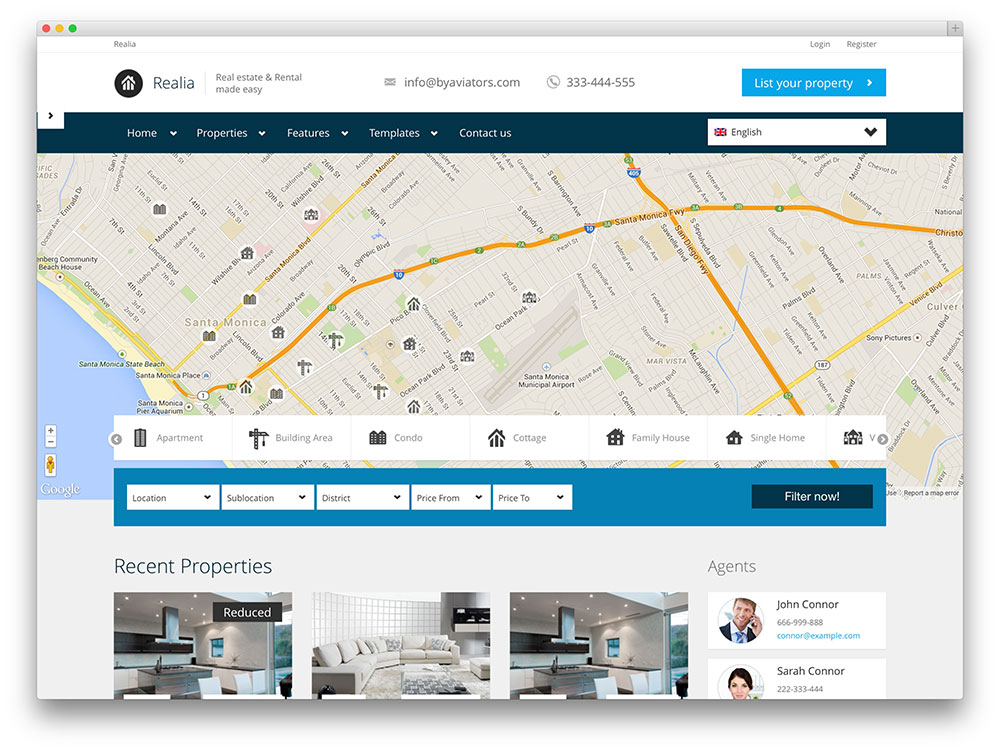 36 Best Real Estate WordPress Themes For Agencies, Realtors and ...