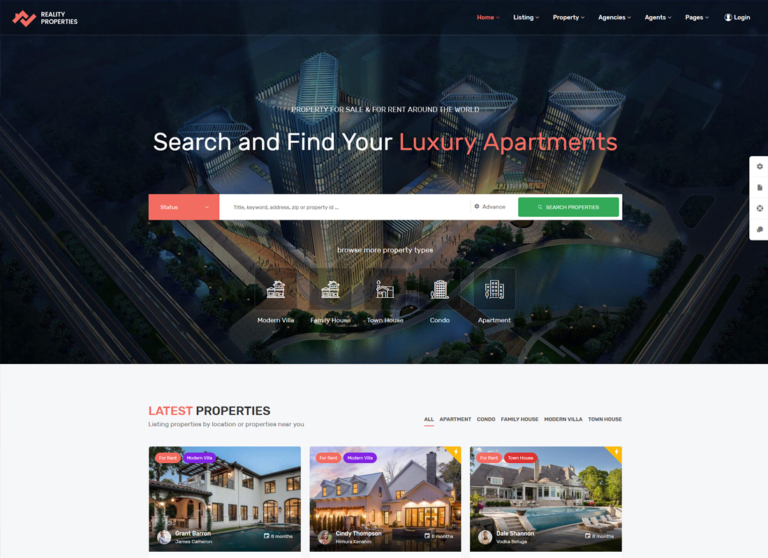 Reality | Real Estate WordPress Theme