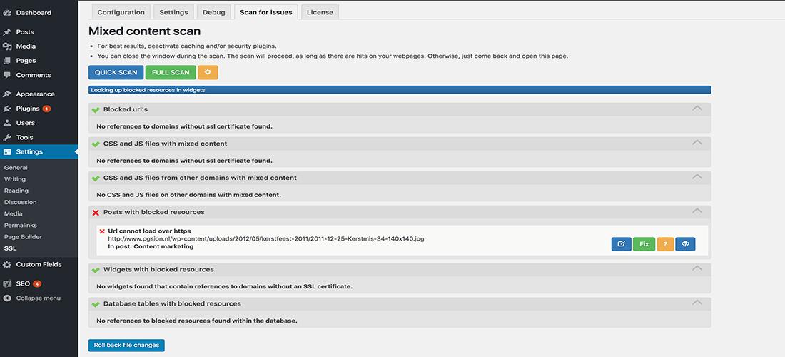 Full Scan WordPress SSL Plugin