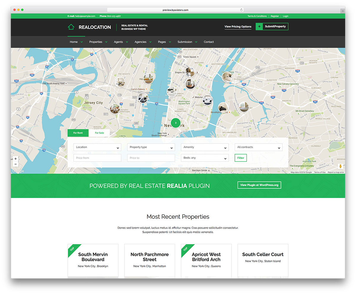 Realocation simple real estate website template