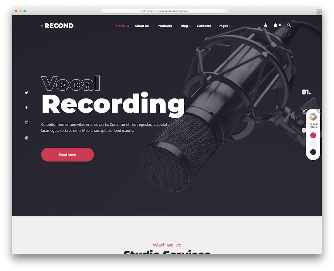 recond dj wordpress theme