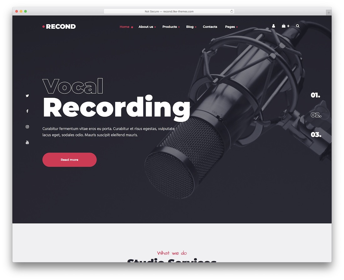 recond wordpress theme for musicians