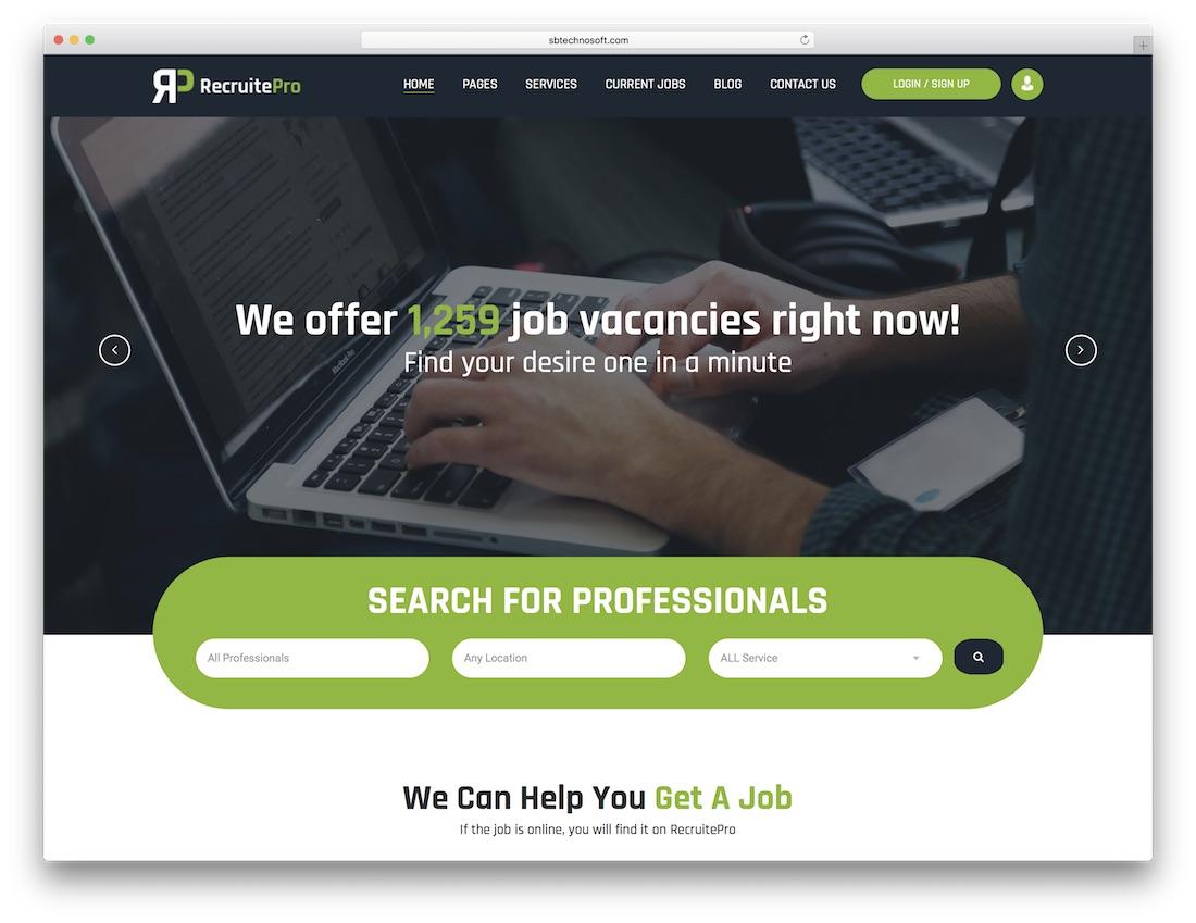 recruit pro html5 website template