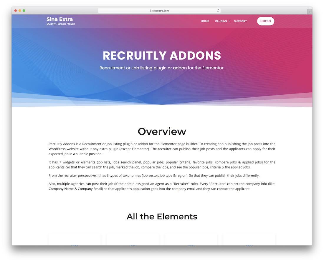recruitly wordpress job board theme