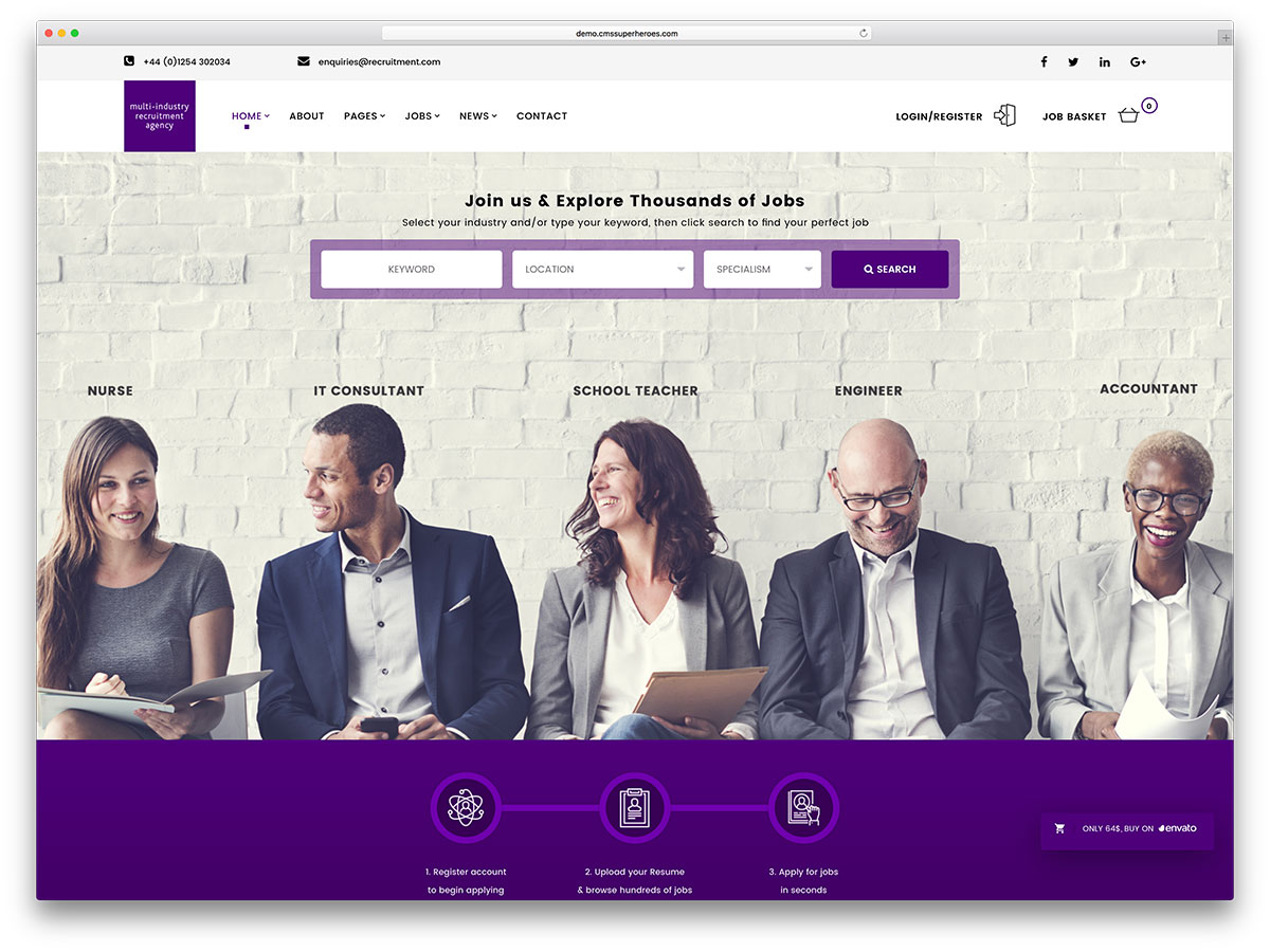 20 Best Job Board Themes And Plugins For Wordpress 2017 Colorlib
