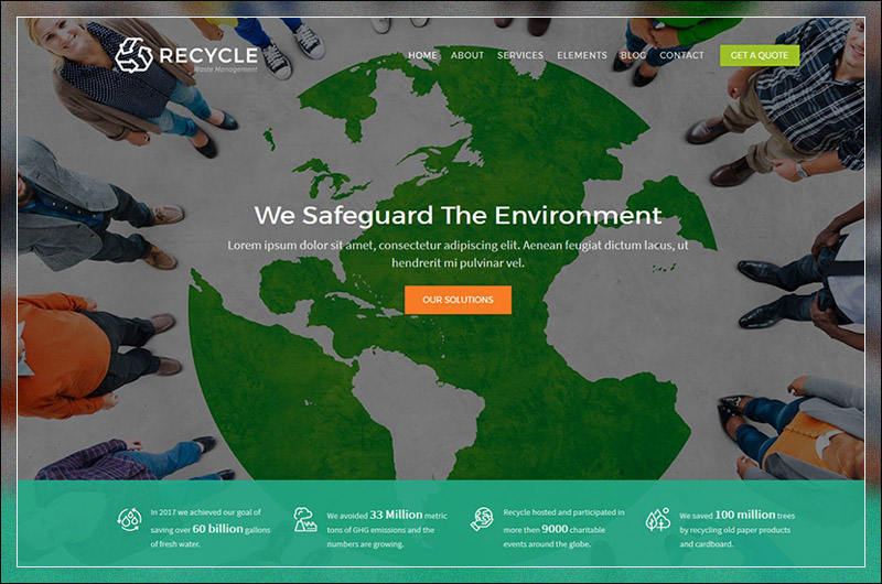 Recycle - Environmental & Recycling WordPress Theme