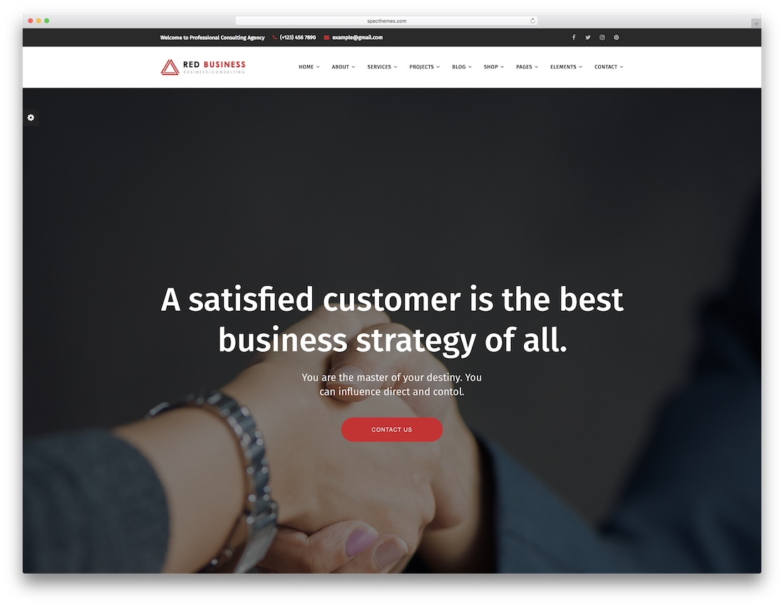 red biz lawyer website template