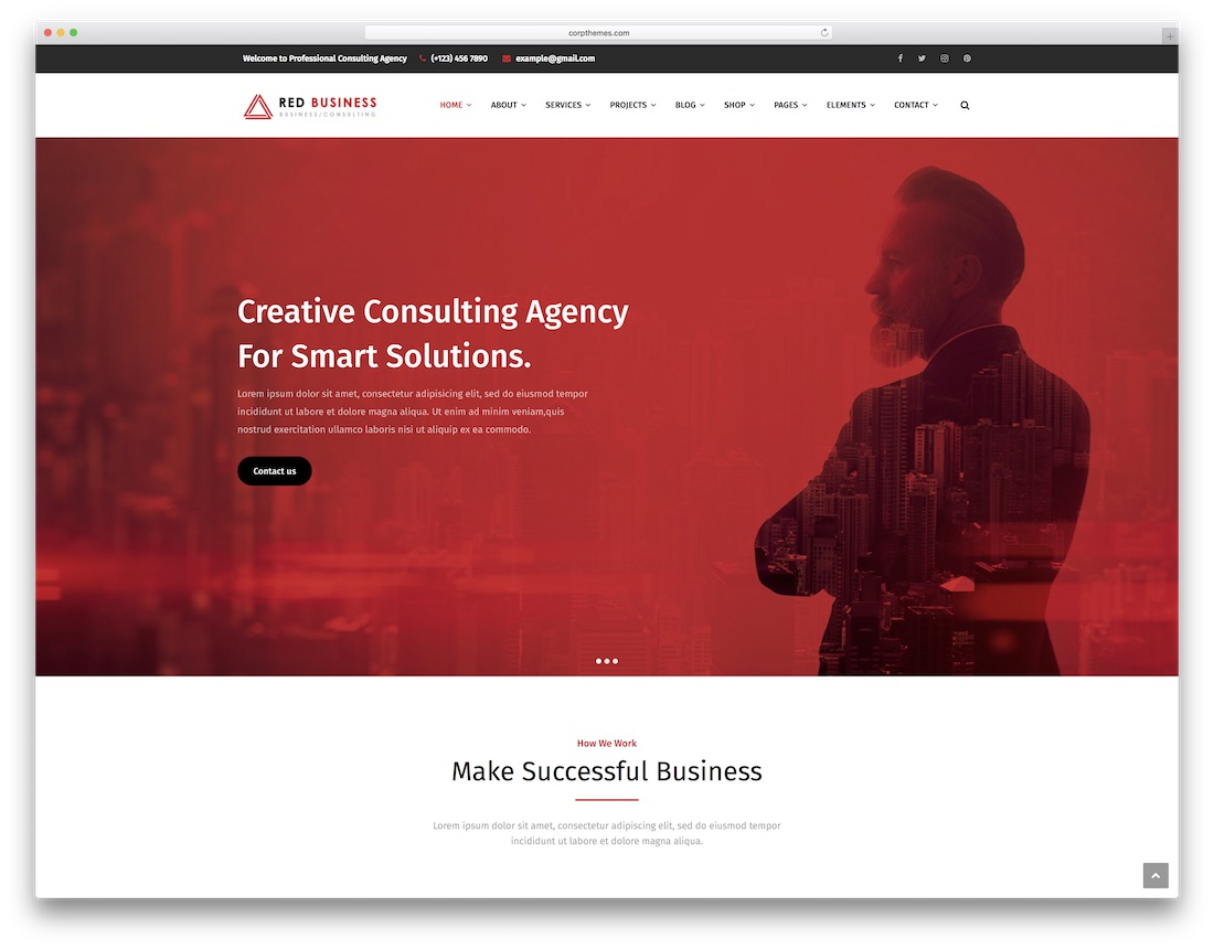 redbiz accountant wordpress theme