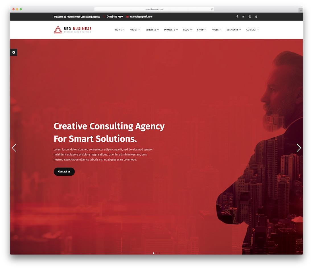 redbiz business website template