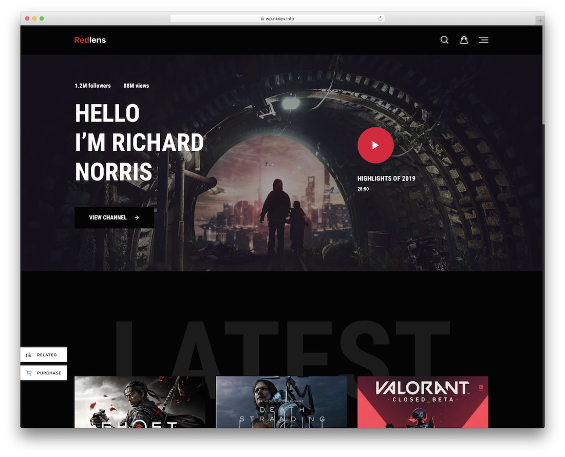 redlens content sharing wordpress theme