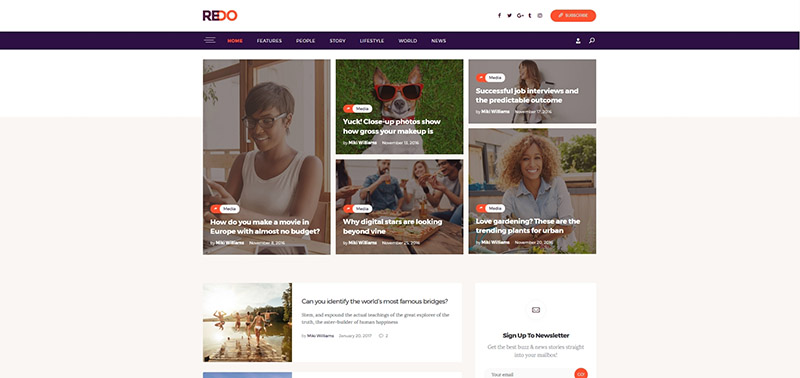 Redo | Personal Blog, Magazine & Review Portal