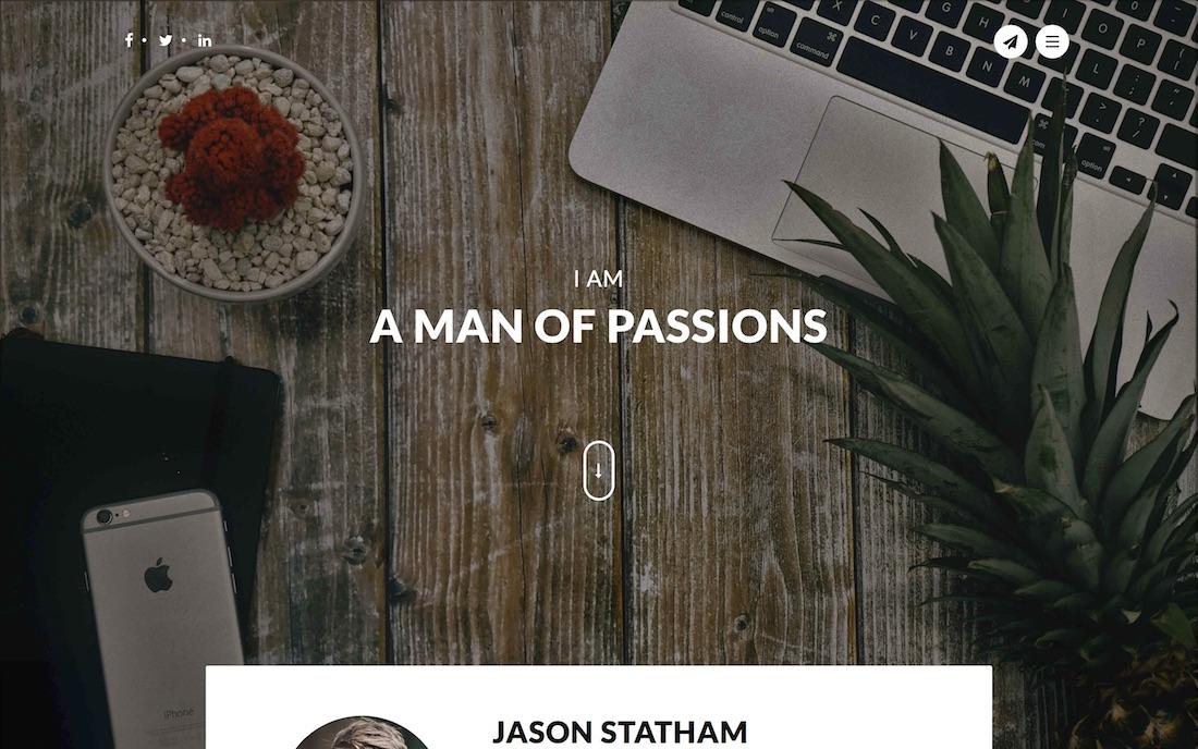 redsume resume website template
