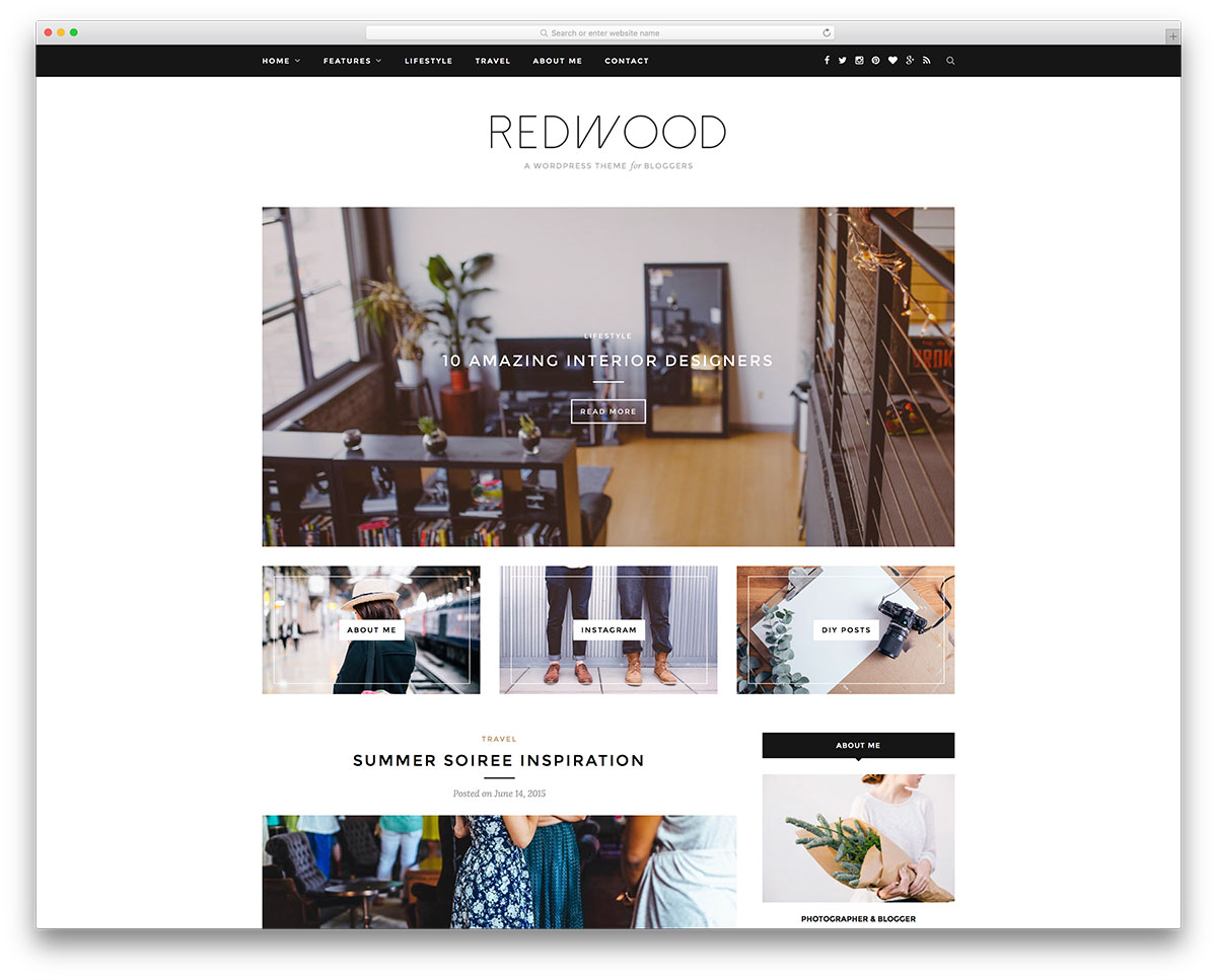 redwood-minimal-universal-blog-theme