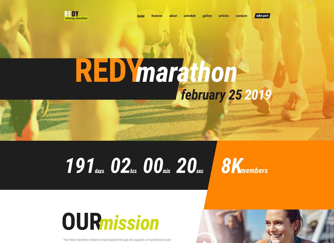 Redy | Marathon & Sports WordPress Theme