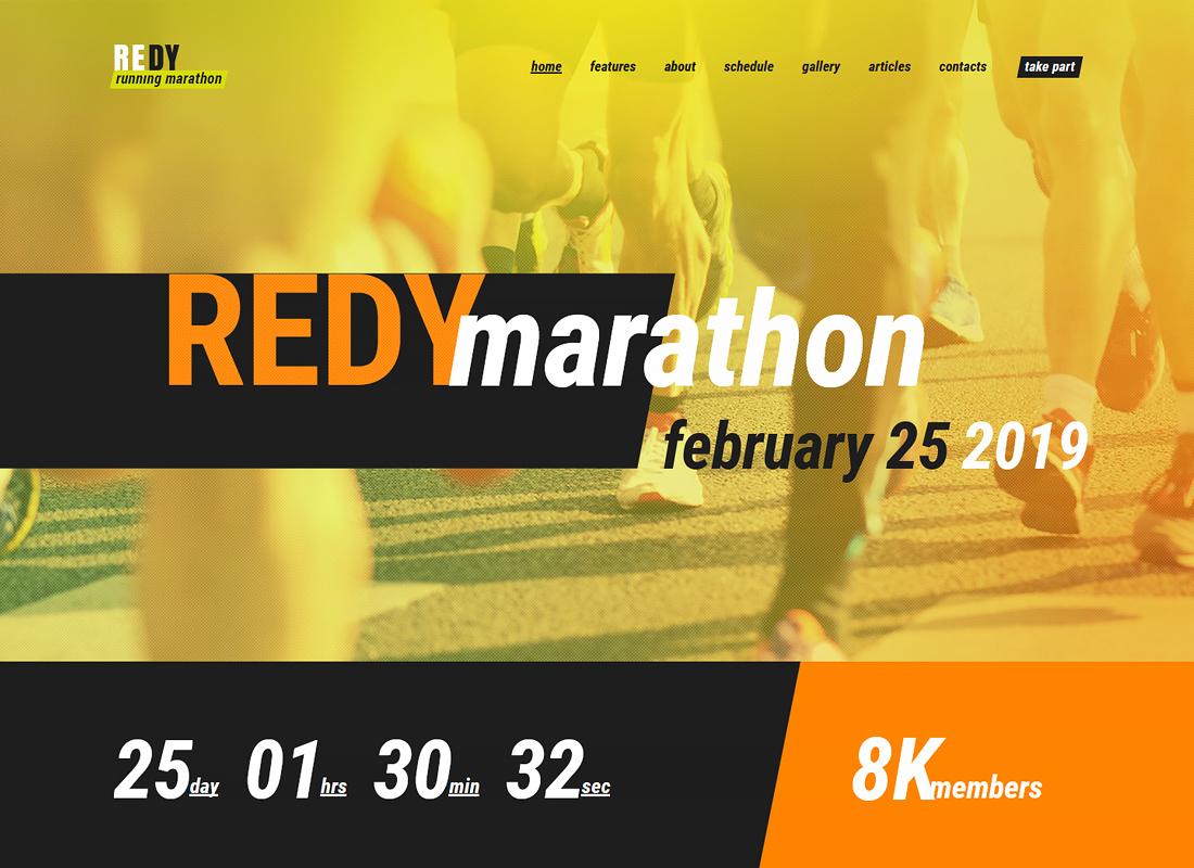 Redy - Marathon & Sports WordPress Theme