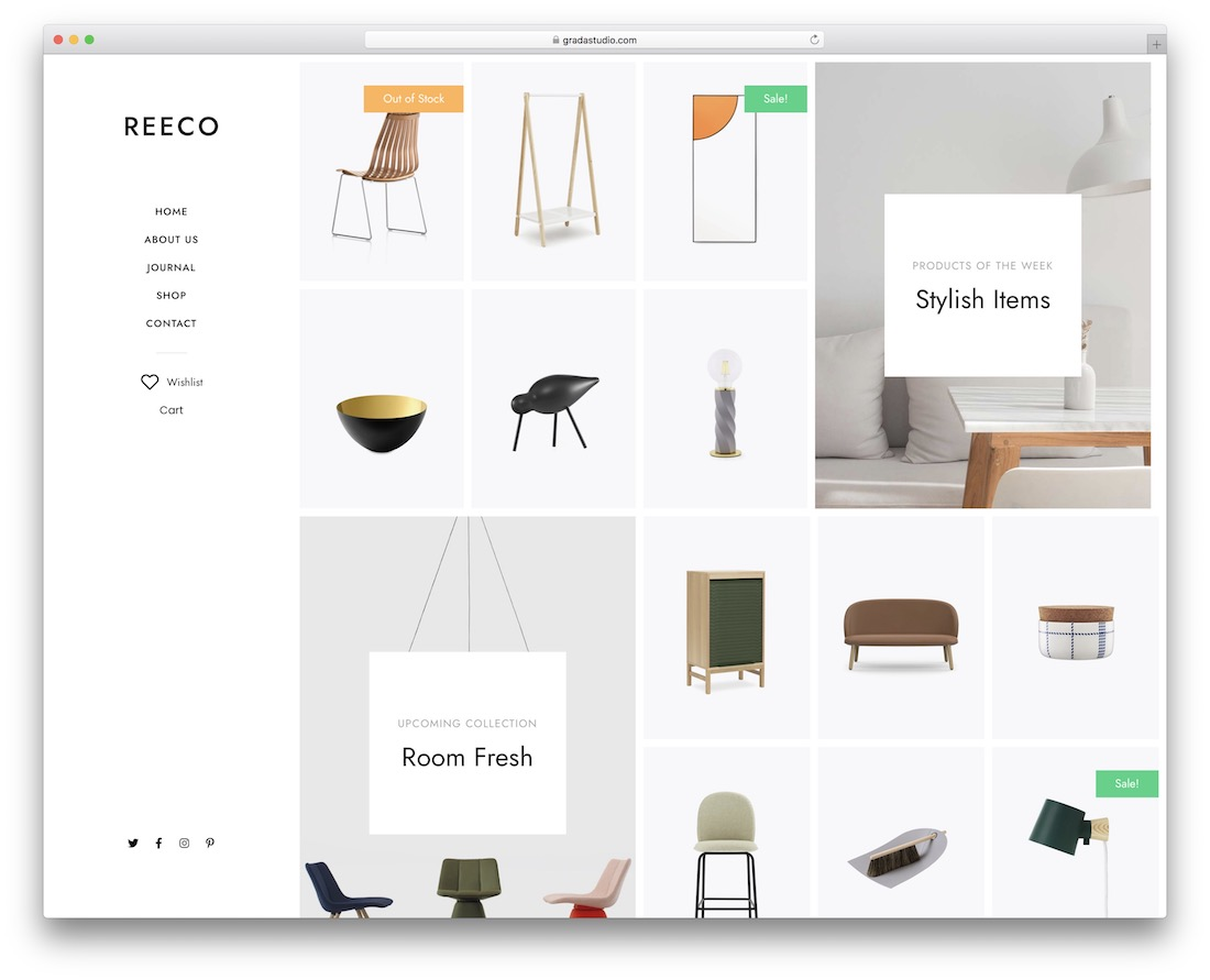 reeco furniture wordpress theme