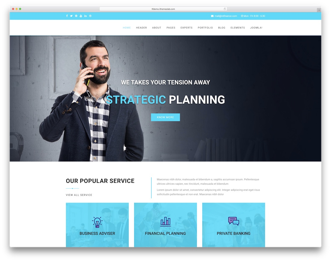 21 best most compelling joomla business templates 2018 colorlib refinance joomla business template wajeb Images