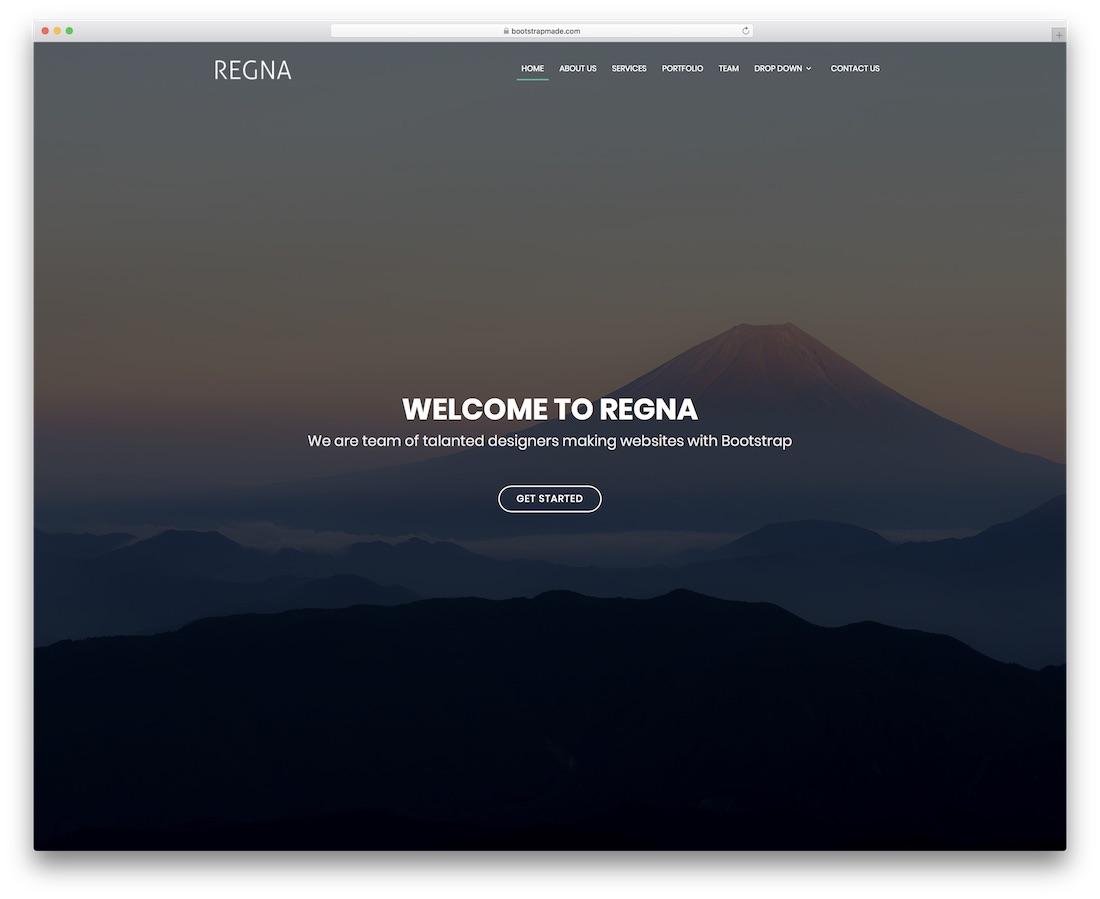 regna website template