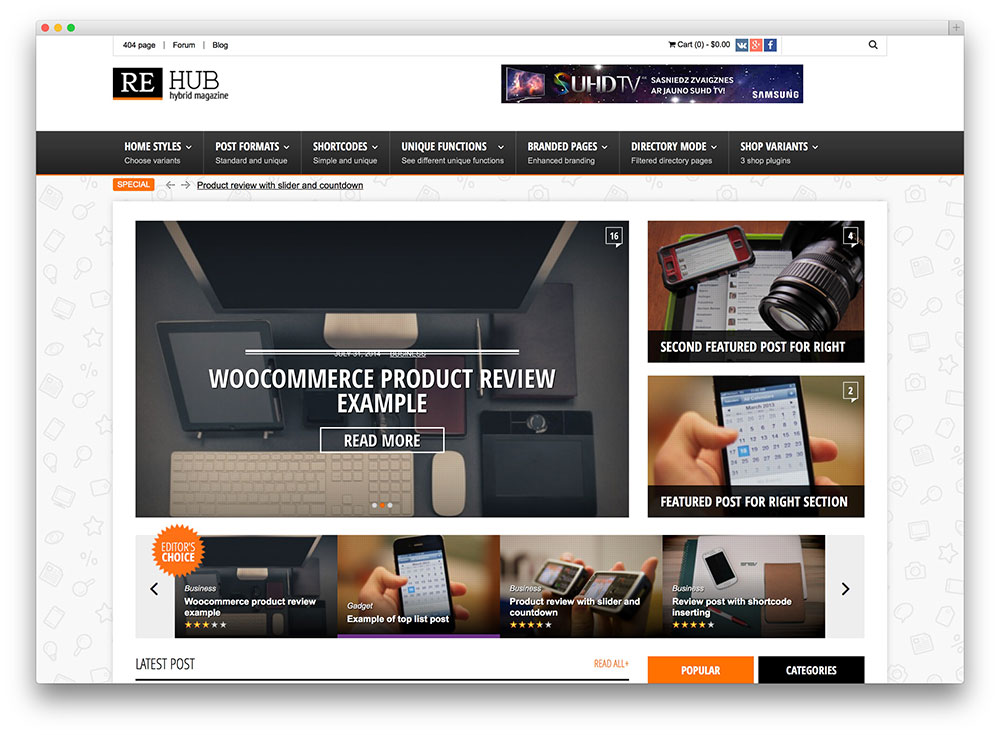 rehub - magazine review and coupon theme