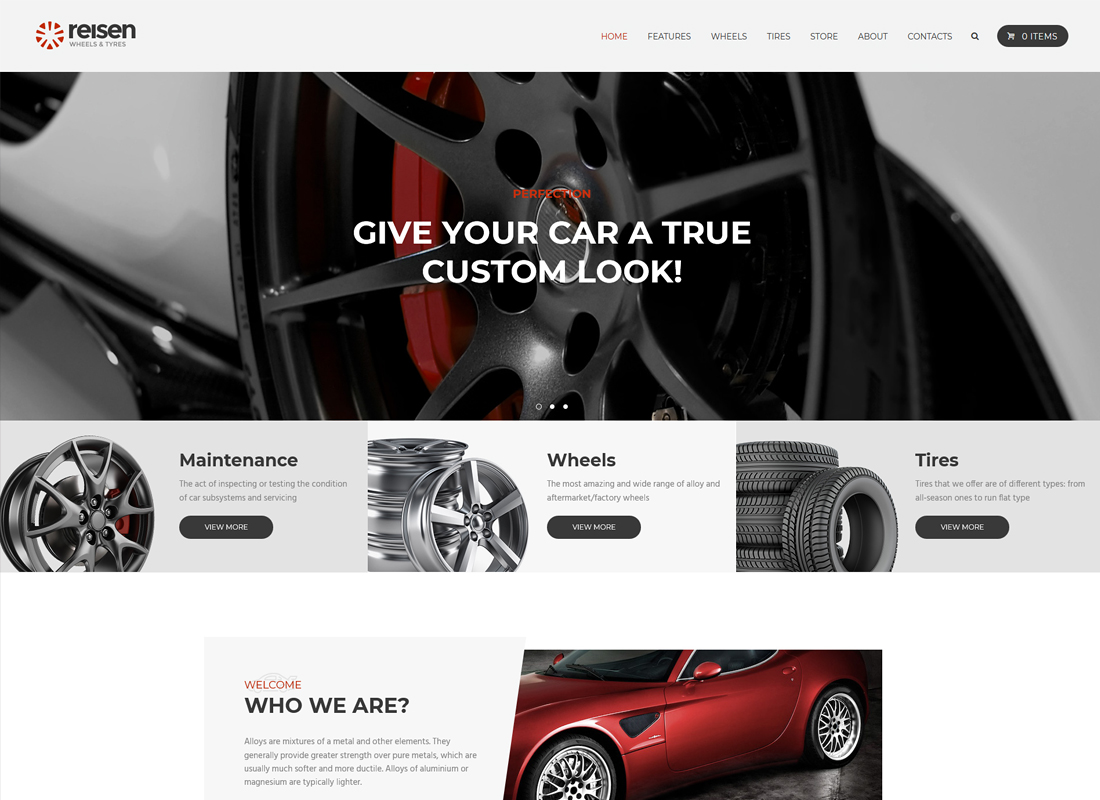 Reisen - Automechanic & Car Repair WordPress Theme