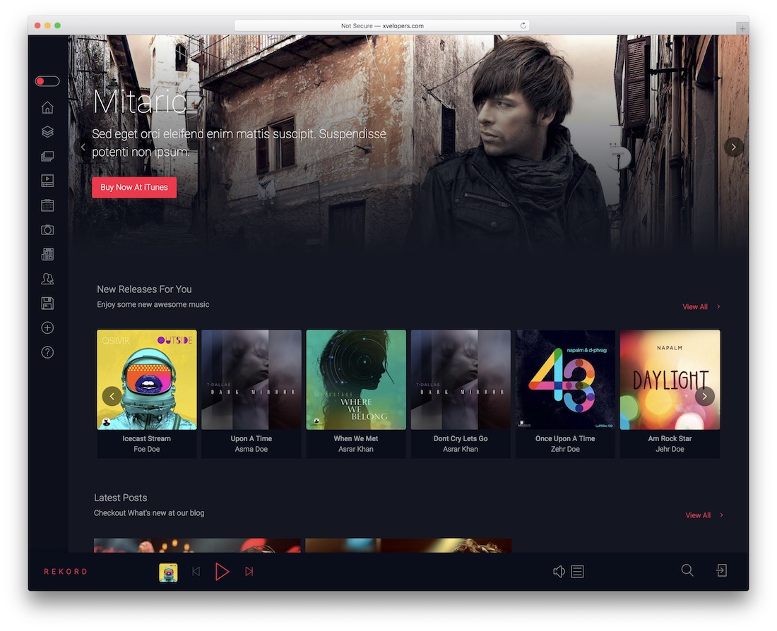 rekord wordpress podcasting theme