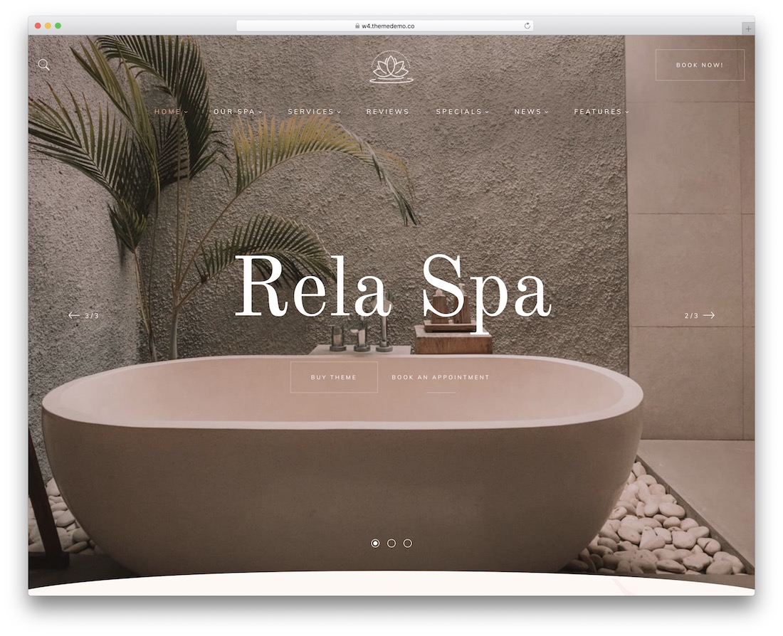 rela spa best spa salon wordpress theme