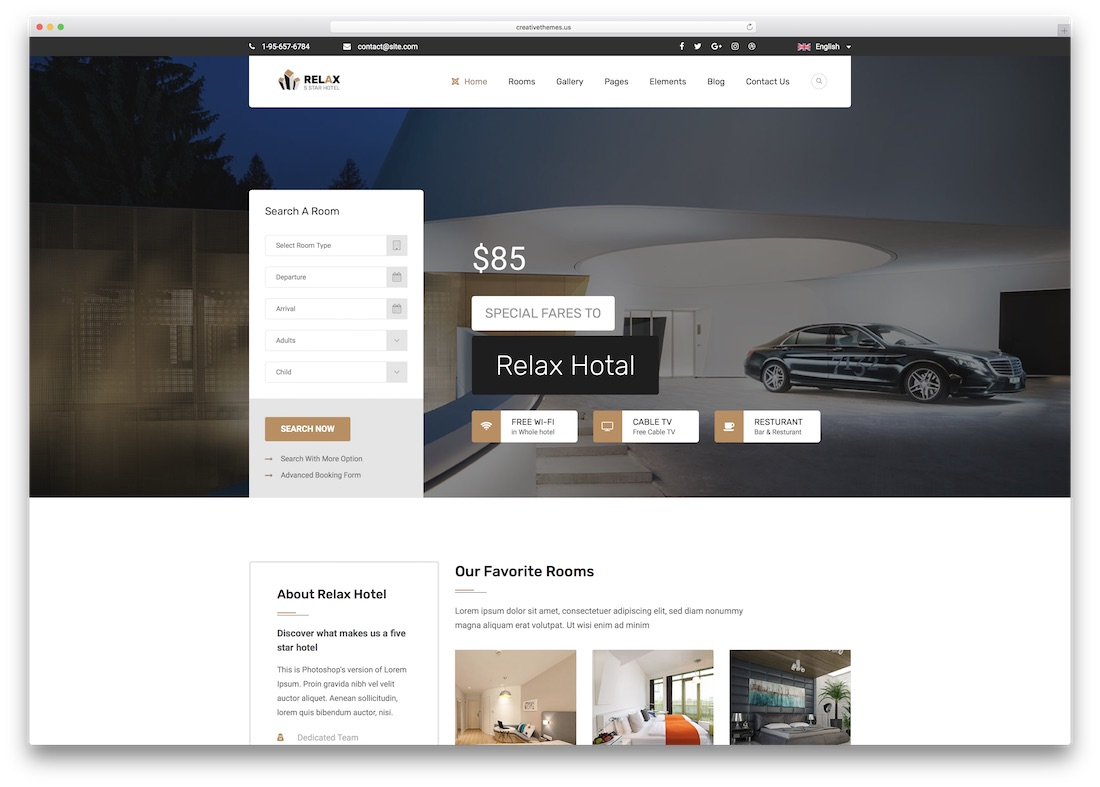 relax html5 hotel website template