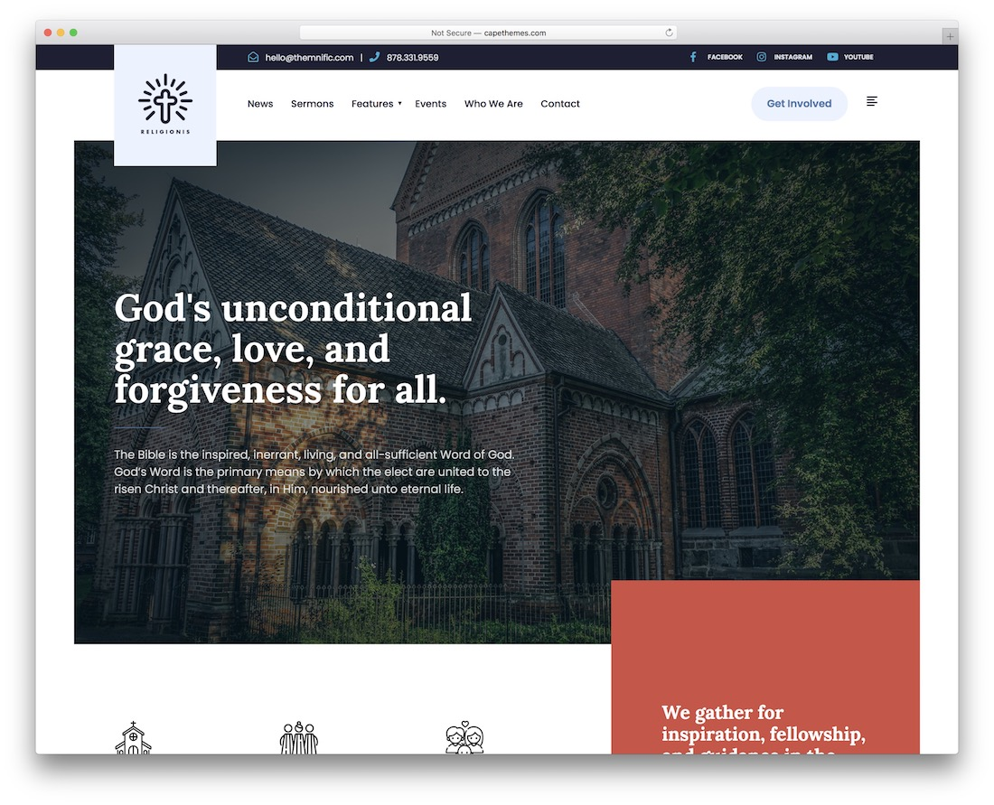 religionis church wordpress theme