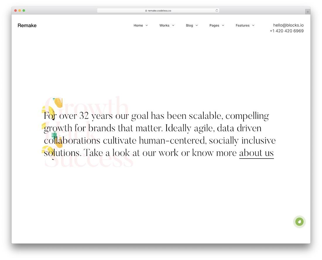 remake simple wordpress theme