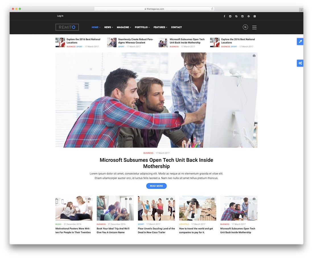 remito drupal business template