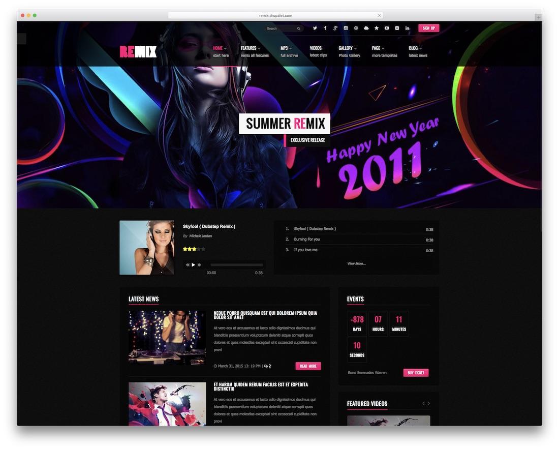remix drupal ecommerce template