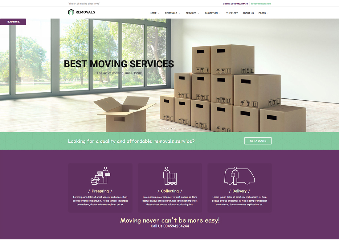 REMOVALS | Removals and Moving WordPress Theme