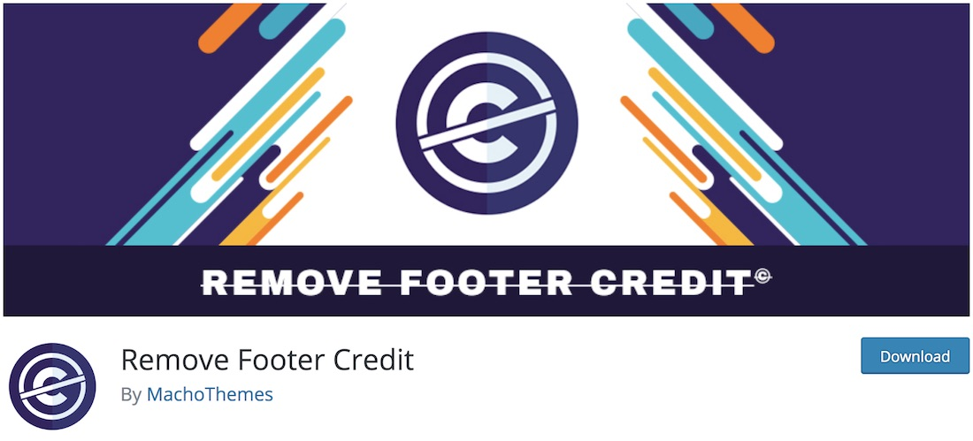 remove footer credit wordpress plugin
