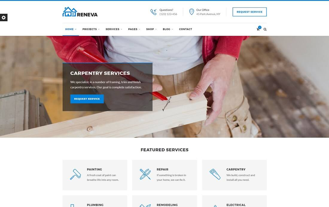 reneva HTML construction company template