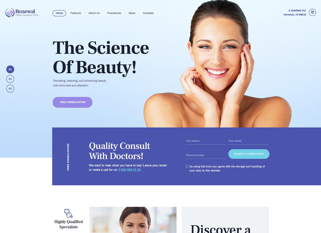 Renewal | Plastic Surgery Clinic Medical WordPress Theme