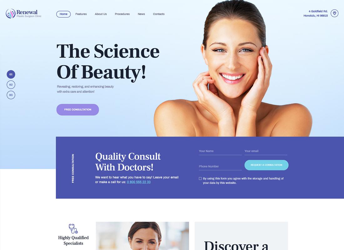 Renewal - Plastic Surgery Clinic Medical WordPress Theme