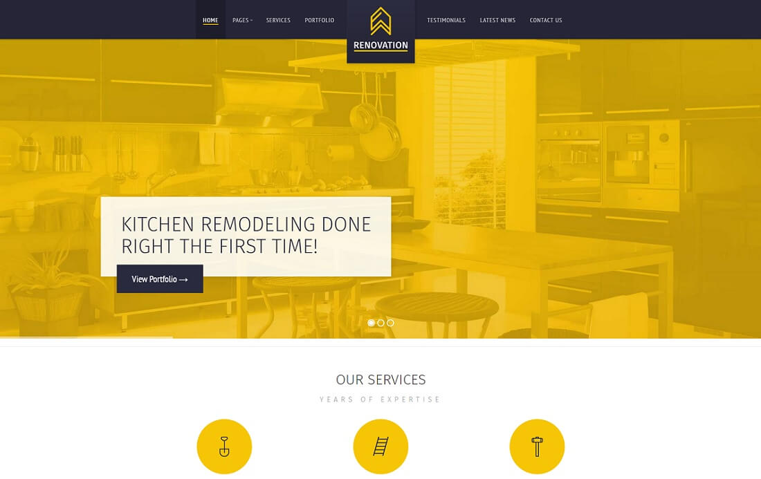 renovation HTML construction company template