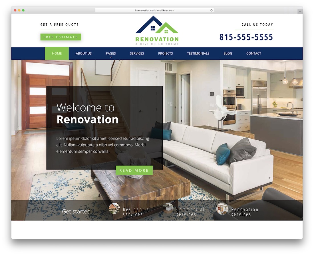 renovation divi child theme
