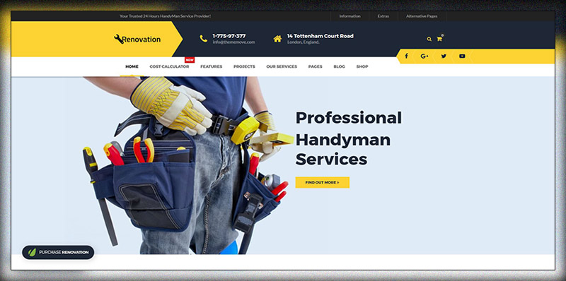 Renovation - Home Maintenance, Repair Service Theme